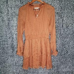 NWT J.O.A. Chiffon Layered Dress Sz M